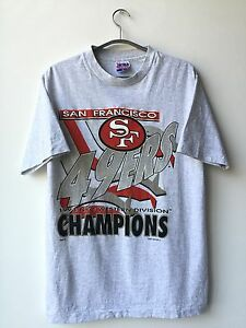 dfc7879f7 NEW Vintage 90s San Francisco 49ERS Forty Niners NFC Champions shirt ...