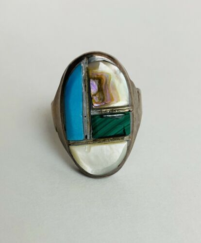 Large Mens Authentic Old Pawn Ring