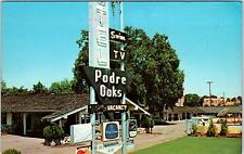 PASO ROBLES, CA California  PADRE OAKS MOTEL  c1960s  Roadside Postcard