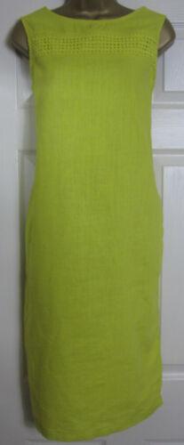 NEW Next Shift Tunic Dress Linen Blend Sleeveless Summer White Berry Yellow 8-22