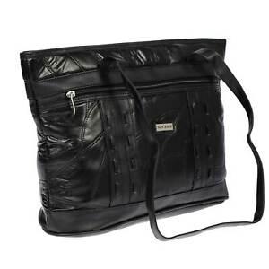 9c85954f66647 Das Bild wird geladen Grosse-Damen-echt-Leder-Tasche-Umhaengetasche- Ledertasche-Handtasche-