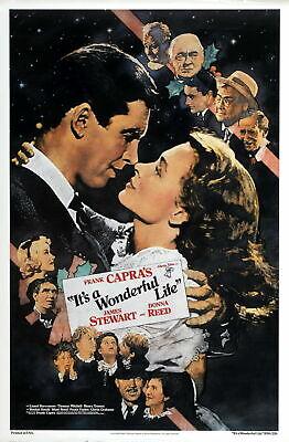 R361 ITS A WONDERFUL LIFE movie Christmas-Print Art Silk Poster