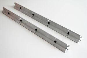 2Pcs SBR20 20mm Fully Supported Linear Rail Guide Shaft Rod Slide L300-1500mm