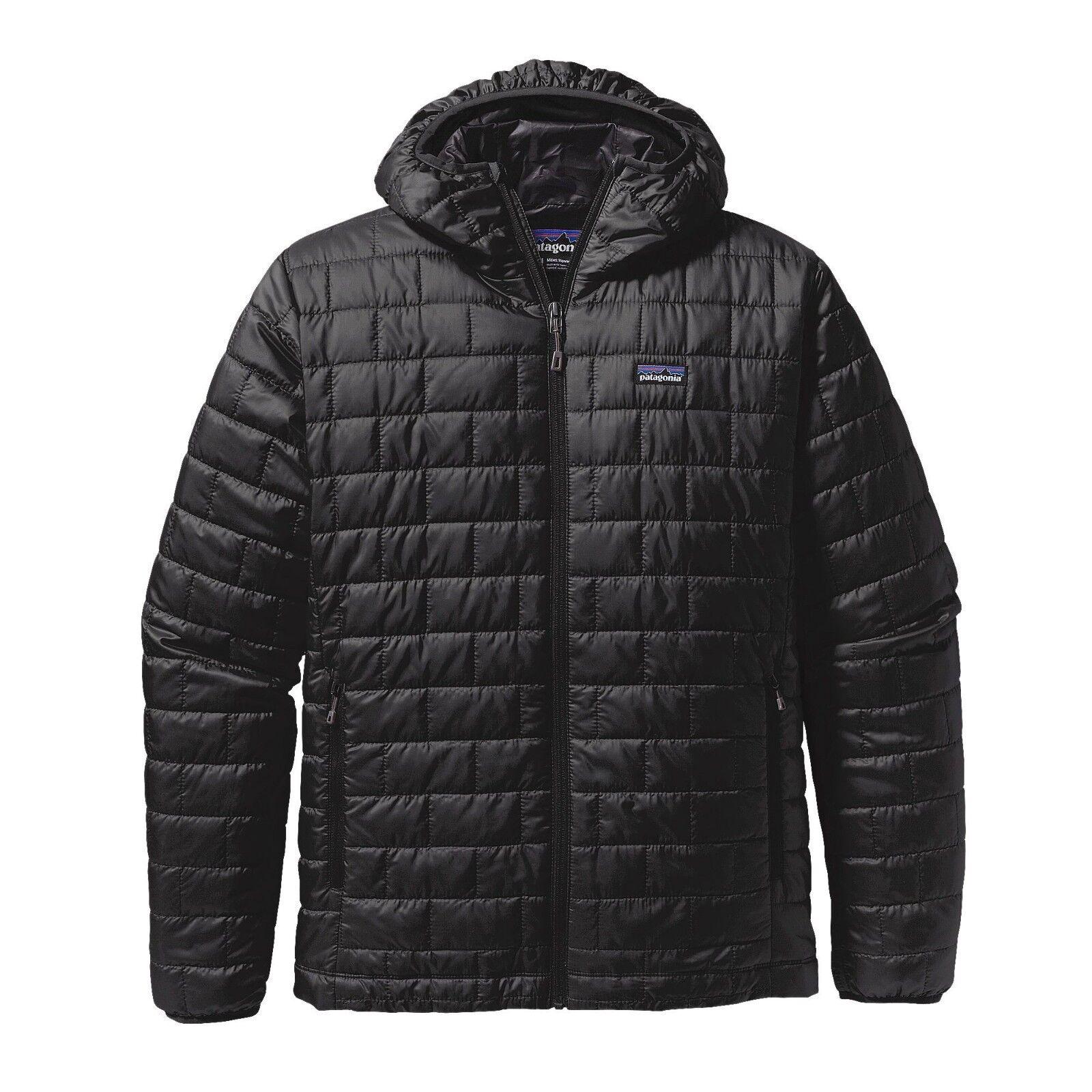 Patagonia Nano Puff ® con capucha para hombre-negro-tamaño S   Precio Bajo