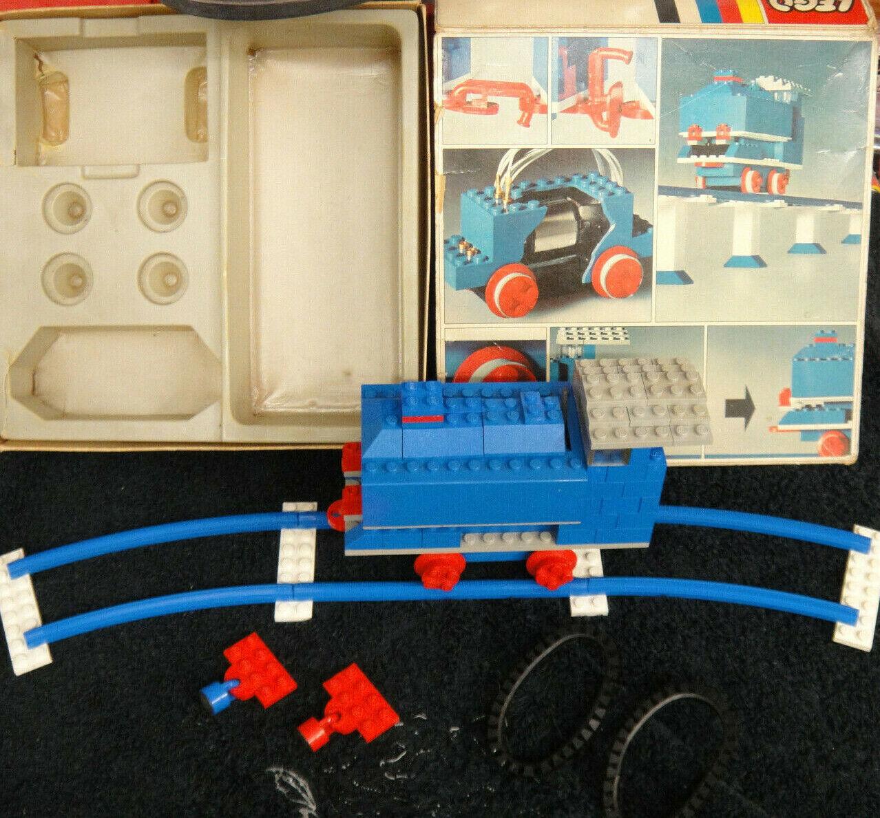 Lego vintage alte Eisenbahn LOK blau 112 mit OVP mit Motor blau