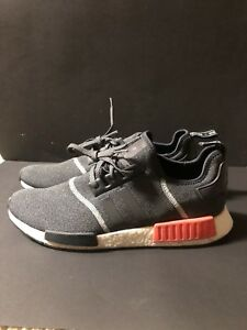 huge discount f92f4 bf499 Image is loading Adidas-NMD-R1-Nomad-Runner-S31510-Grey-Orange-