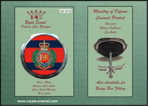 B2.3018 Fittings CORPS OF ROYAL ENGINEERS Royale Classic Car Grill Badge