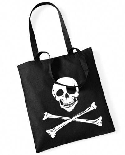 PIRAT Totenkopf Cotton Bag Stoffbeutel schwarz