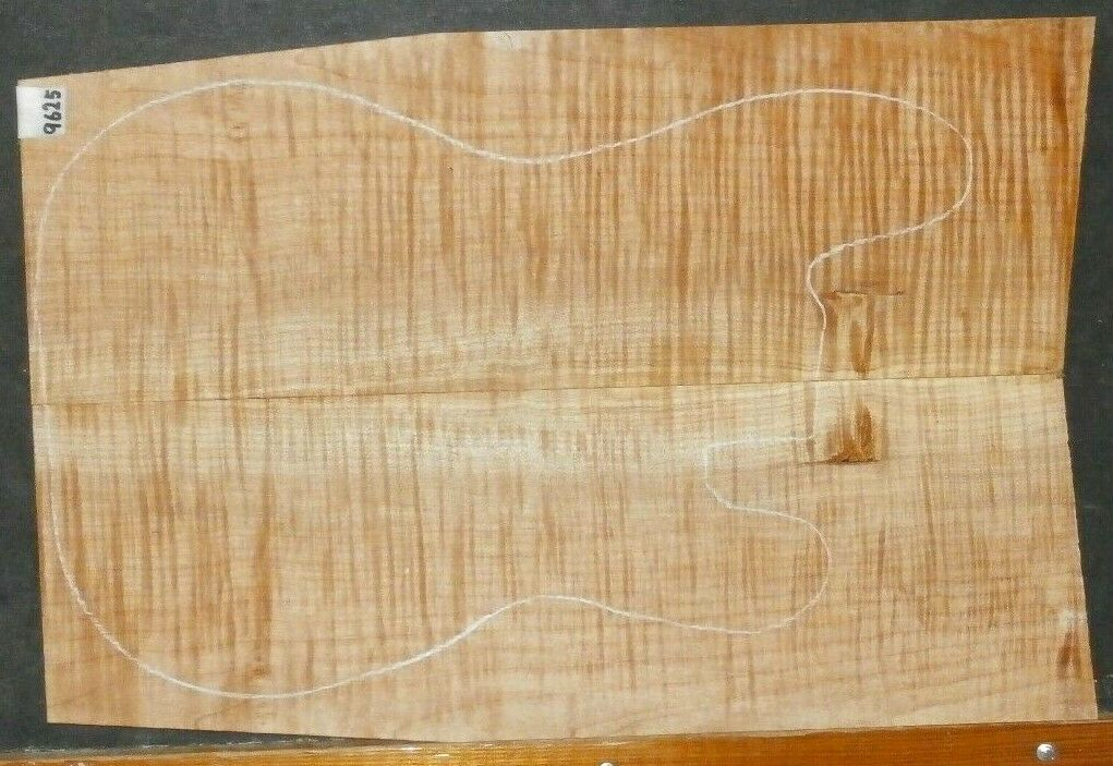 Flame TIger Curly Maple Wood 9625 Luthier 5A Guitar Top Set 23.5 x 15.75 x .75
