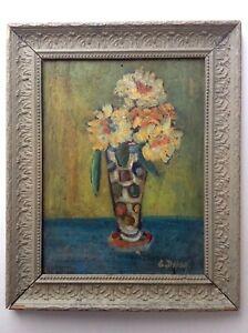 Quadro-Antico-Georgette-Dupouy-1901-1992-Museo-di-Dax-Mazzolino-Fiori-Olio