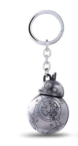 Quality Star Wars 3D BB8 Robot Keyring Key Ring Keyrings Rings Keys Silver Tone