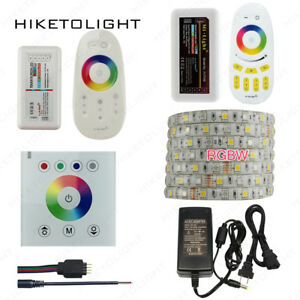 DC12V-RGBW-LED-Strip-Light-2-4G-Touch-Remote-Controller-Dimmer-5A-Power-Supply