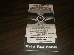 OCTOBER-1959-ERIE-RAILROAD-FORM-8-GREENWOOD-LAKE-DIVISION-PUBLIC-TIMETABLE