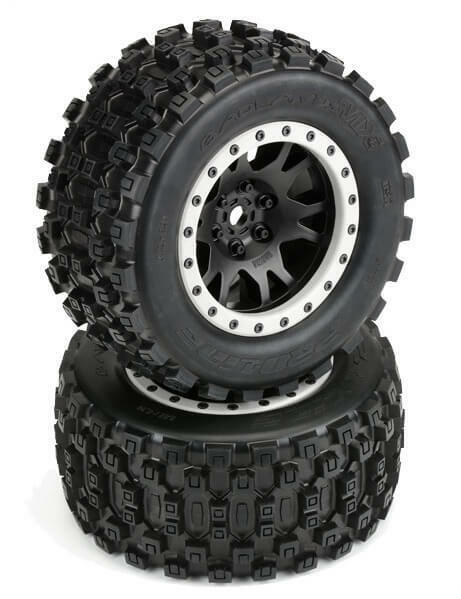 Pro-Line Badlands MX43 Mounted All Terrain Tires X-Maxx  2  10131-13 PRO1013113