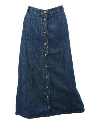 Christopher and Banks Denim Button Front Skirt Siz