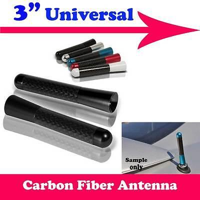 "3/"" Carbon Fiber Aluminum Roof Auto Car Short Antenna Red Fit For VW Fiat Pz25"