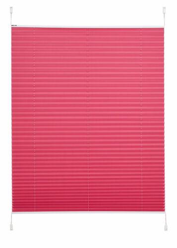 Klemmfix Plissee Piva Easyfix Licht /& Sichtschutz Klemmrollo Fuchsia pink Crush