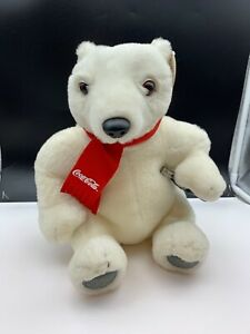Coca-Cola-Stuffed-Toy-Polar-Bear-Polar-Bear-11in-Never-Used-Top-Condition