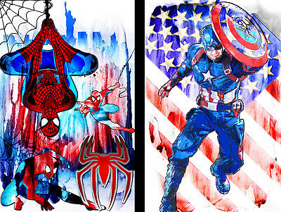 Spiderman Captain America 11 x 17 Super hero lot High Quality Posters 2