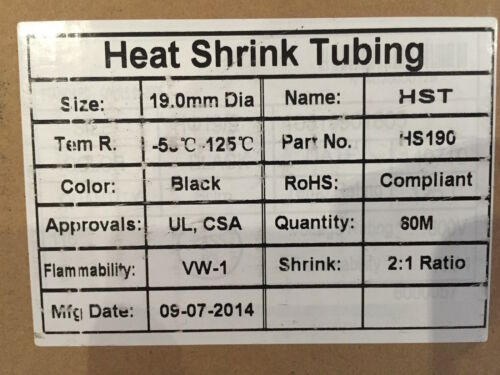 9 x 1M Automotive High Temperature Heat-shrink Tubing Pack 2:1 Shrink
