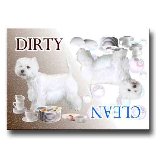WEST HIGHLAND TERRIER Clean Dirty DISHWASHER MAGNET