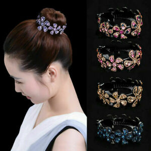 Fashion-Women-Crystal-Hair-Clip-Claw-Ponytail-Bun-Holder-Hairpin-Comb-Hair-Acc