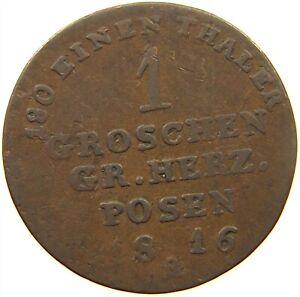 GERMAN-STATES-1-GROSCHEN-1816-PREUSSEN-s18-539