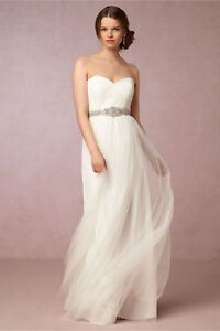575ad61ec96d Image is loading NEW-ANTHROPOLOGIE-BHLDN-260-IVORY-ANNABELLE-DRESS-GOWN-