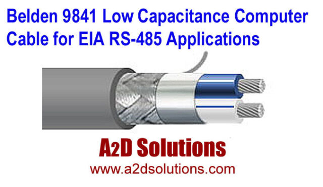 200 Belden 9841 24 AWG 1 Pair PVC Jacket TC Low Capacitance Computer Cable For EIA RS-485 Applications Wire