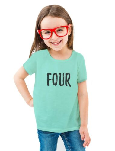 4th Birthday Gift For Four Year Old Child Toddler//Kids Girls/' Fitted T-Shirt