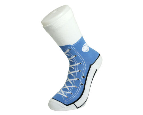 blau Sneaker Socken in Chucks Optik Unisex