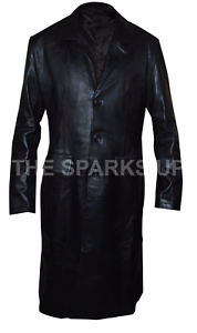 Trendy-Angel-David-Boreanaz-Stylish-Wear-Leather-Long-Trench-Coat-BIG-SALE
