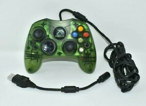 MICROSOFT-OEM-XBOX-Green-Translucent-Type-S-Controller-With-Break-Away-Cable
