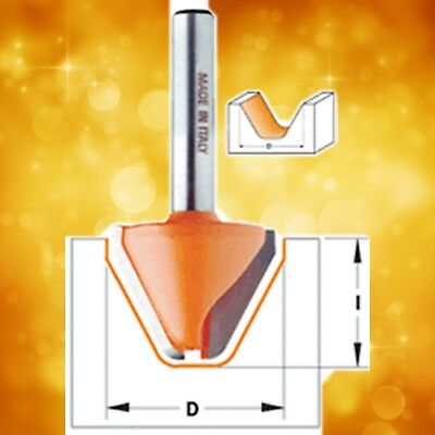 """CMT 849.501.11B 60º Lettering Router Bit with Top Bearing 1-1//8/"""" D 1//2/"""" Shank"""