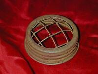 Mason Ball Jar Flower Frog Vase Mustard Rust Lid-Primitive Country Wedding Decor