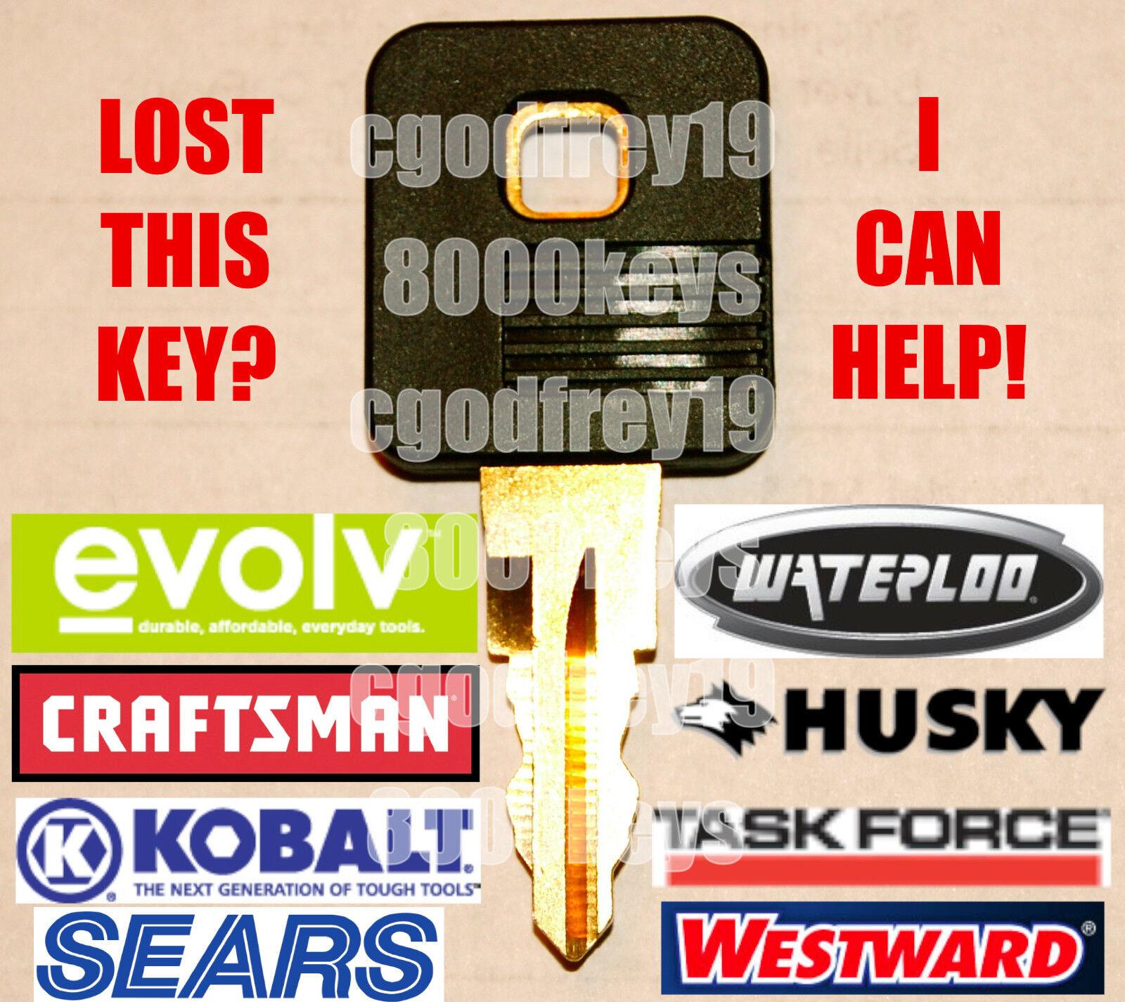 2 Craftsman-Sears-Husky-Kobalt Tool box Key Code Cut 8101 to 8150 Chest Keys