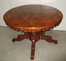 Tavolo tondo allungabile stile antico , costruito negli anni 1970 circa.Vintage