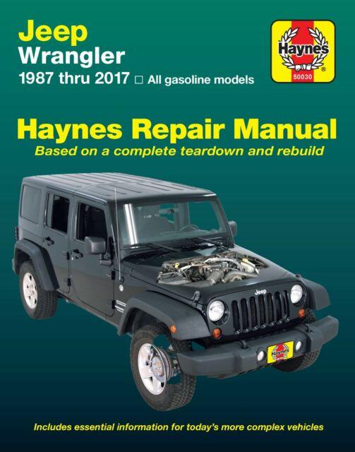 Jeep Wrangler 1987-2017 Haynes Workshop Service Repair Manual