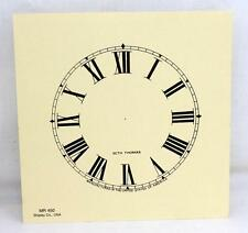 """Seth Thomas Clock Co. Paper Clock Face Dial  Shipley Co. USA MR 450 4.5"""""""