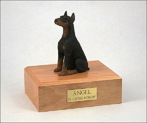 Doberman Pet Funeral Cremation Urn Available in 3 Different Colores & 4 Dimensiones