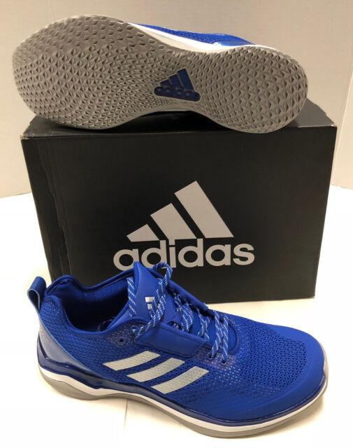 Nib Mens Adidas Speed Trainer 3.0 Navy Silver Mesh Baseball Sport Shoes 13 927d807b3
