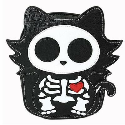 Cute Little Spooky Skeleton Kitty Cat Bag Purse Kawaii Gothic Lolita Alternative