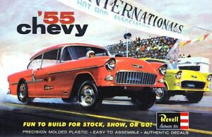 Revell '55 Chevy Gasser Drag Car Sticker or Magnet