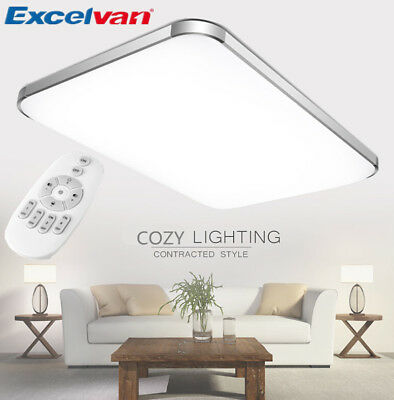 Dimmable 36W LED Ceiling Light Dining Room Study Bedroom Lamp Remote 65×44CM US