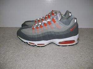 6823c7a1fbf2 SZ 12 Mens Nike Air Max 95 Light Graphite Orange 609048 081 Neon 90 ...