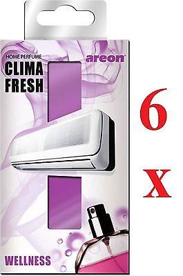 6 X Areon Clima Fresh Air Conditioning Deodoranti Qualità Profumo Casa Ufficio Rinvigorire Efficacemente La Salute