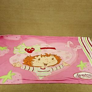 Strawberry-Shortcake-Doll-Standard-Pillow-Case-Cover-Pink-Girls-Bedroom-Vtg