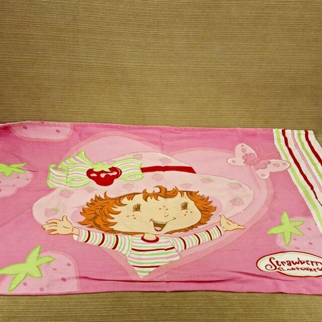Strawberry Shortcake Doll Standard Pillow Case Cover Pink Girls Bedroom Vtg