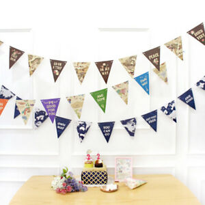 World-Travel-Map-Banner-Garland-Party-Hanging-Bunting-Flags-Banner-Home-Decor
