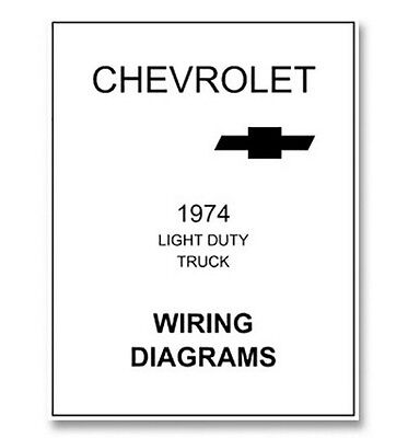 1974 Chevy Truck Wiring Diagram | eBay